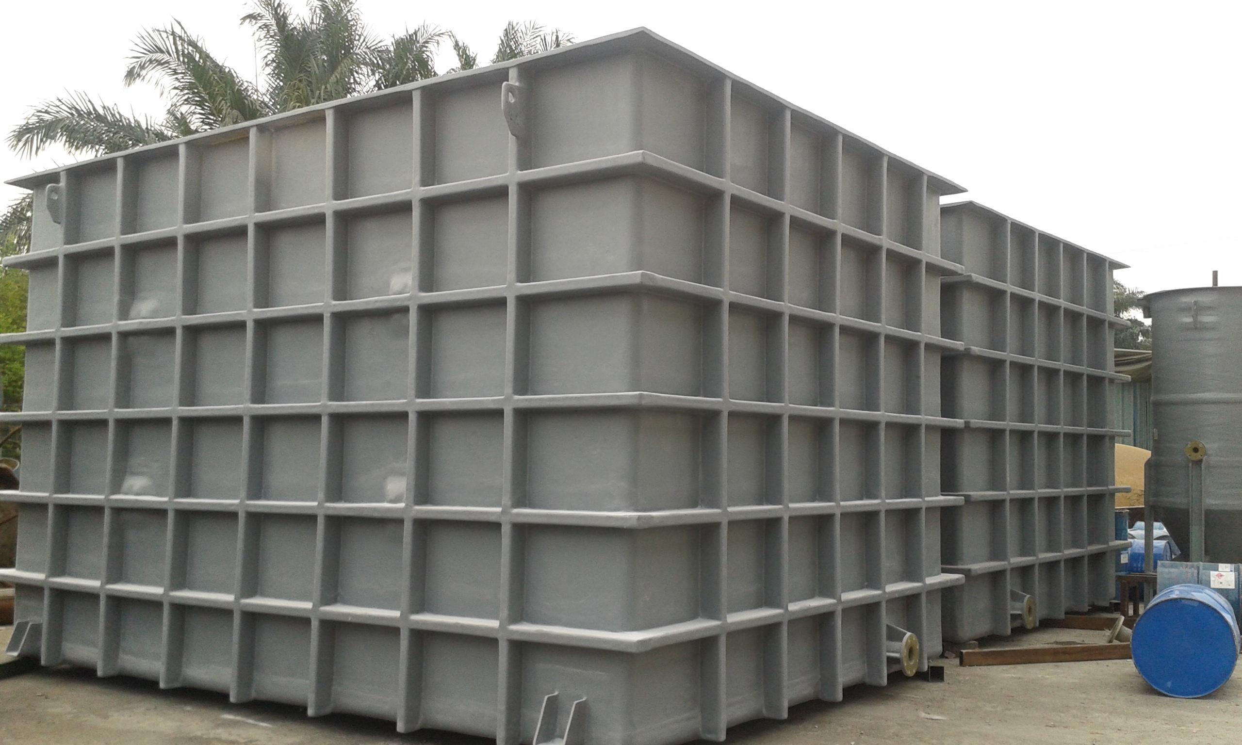 Frp Rectangular Horizontal Amp Chemical Storage Tank